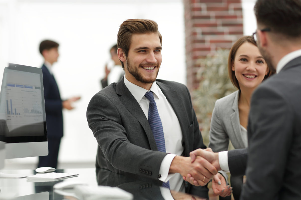 Picture of business people in a handshake agreement